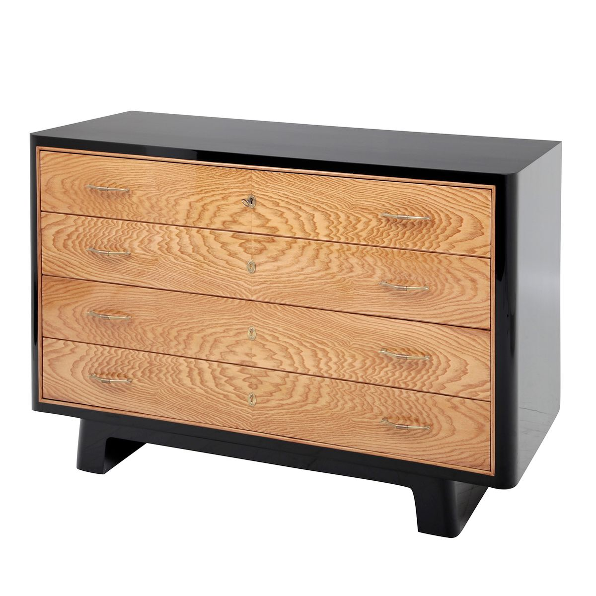 vintage ebonized commode with four drawers for sale at pamono. Black Bedroom Furniture Sets. Home Design Ideas