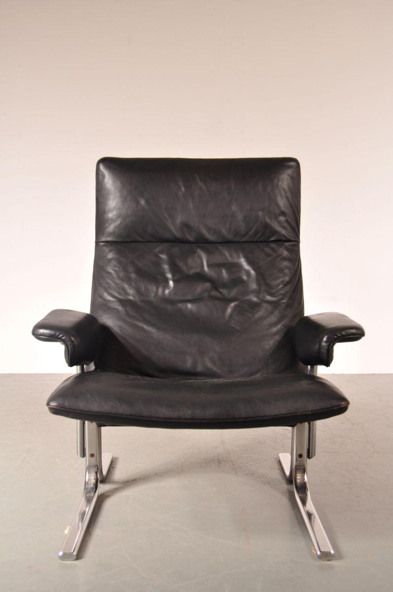 schweizer ds 2030 sessel aus leder und chrom von de sede 1960er bei pamono kaufen. Black Bedroom Furniture Sets. Home Design Ideas