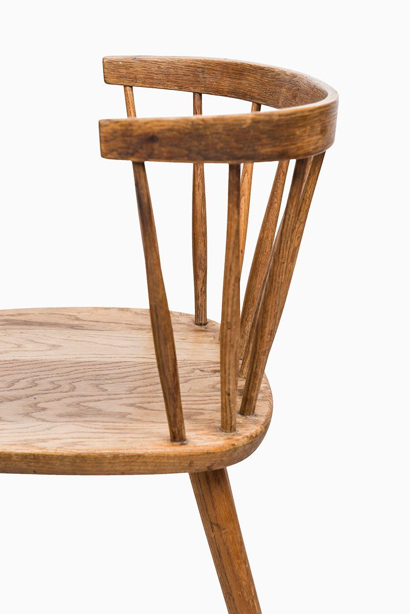 Oak Armchair by Yngve Ekström for Stolab for sale at Pamono