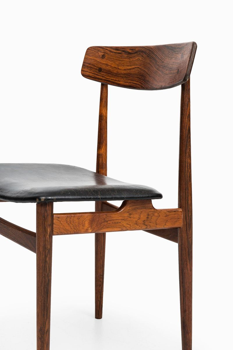 Mid Century Rosewood Dining Chairs Set Of 6 For Sale At
