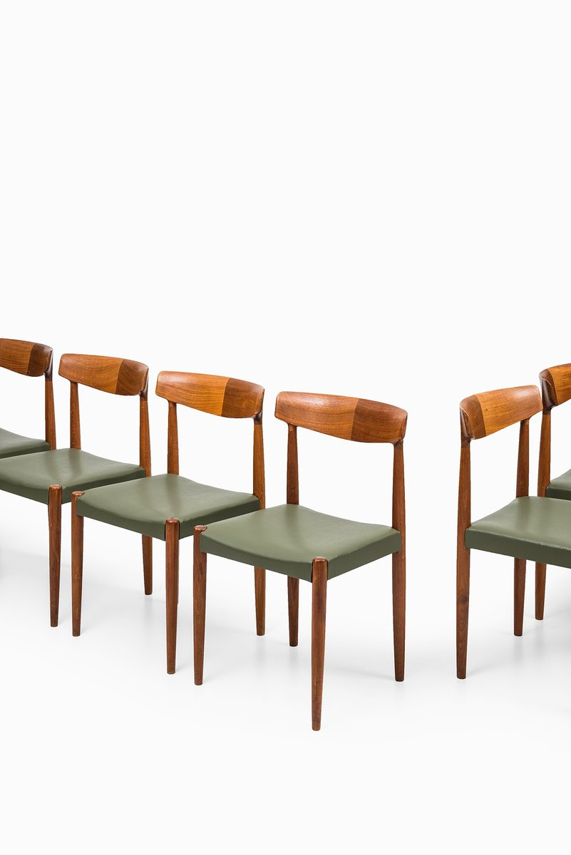 Mid Century Dining Chairs By Knud Færch, Set Of 8