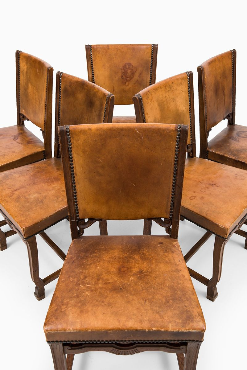 Art Deco Dining Chairs Set of 6 for sale at Pamono