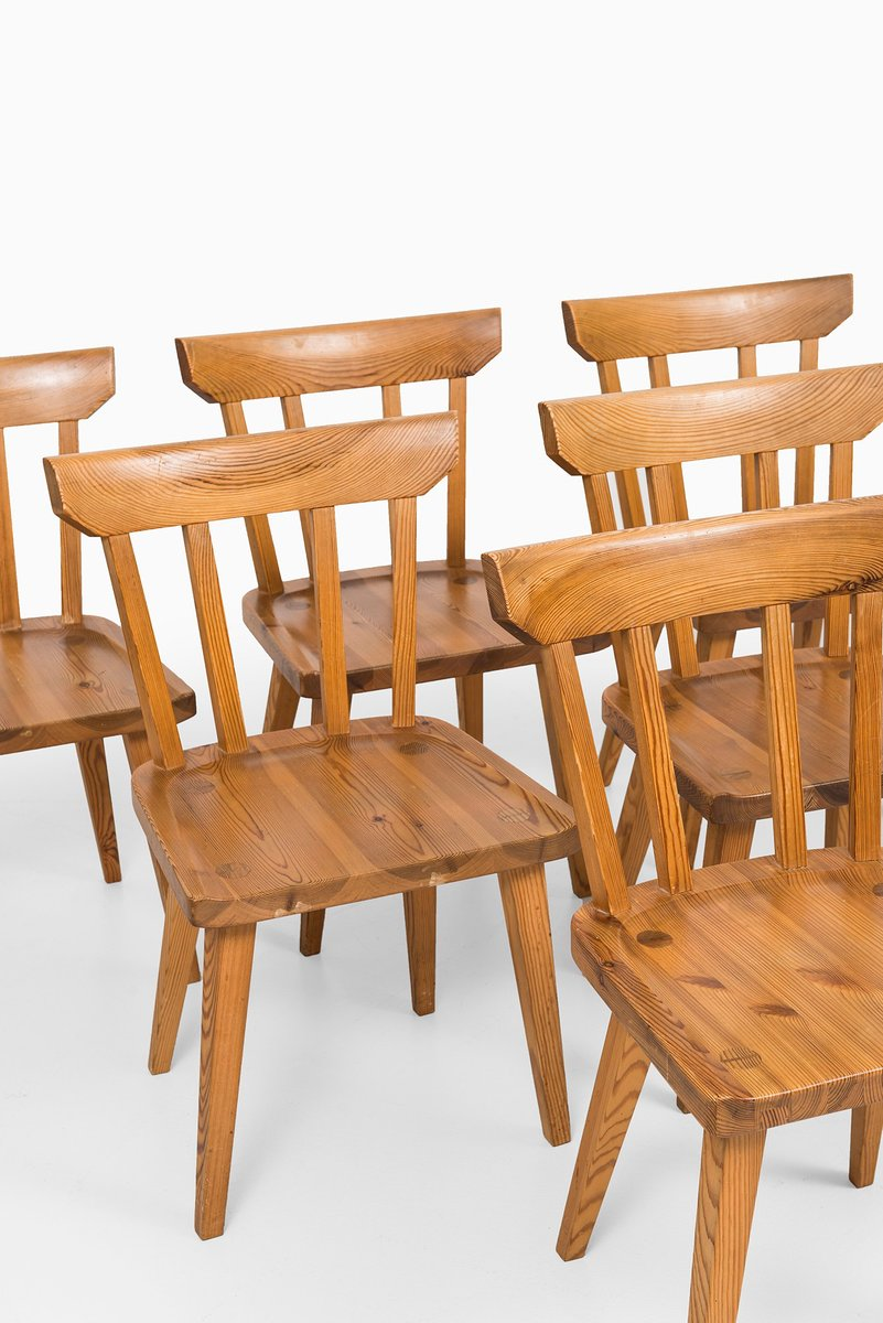 Mid Century Dining Chairs By Carl Malmsten, Set Of 6