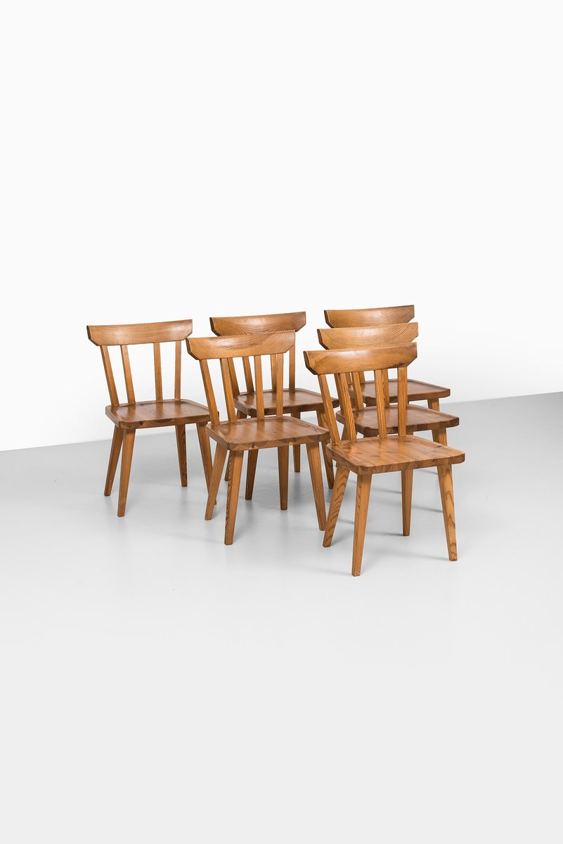 Mid century dining chairs by carl malmsten set of 6 for for Set of 6 dining chairs