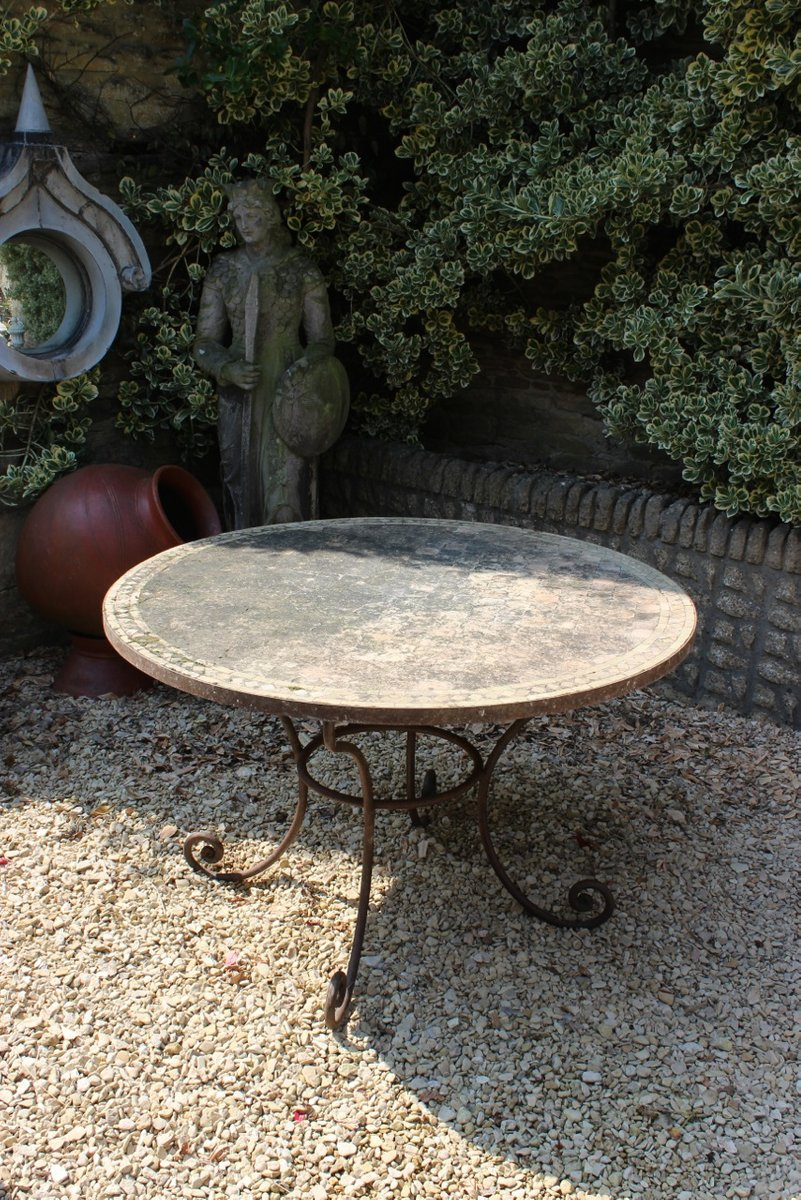 Table de jardin vintage en terracotta en vente sur pamono - Table jardin vintage montpellier ...