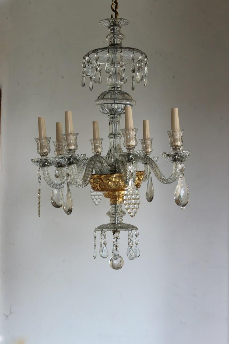 antique venetian glass eight arm chandelier for sale at pamono. Black Bedroom Furniture Sets. Home Design Ideas