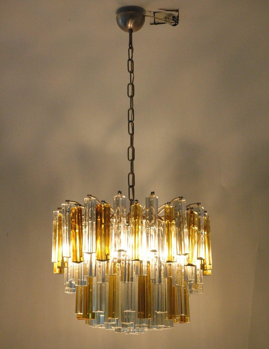 Italian 107 Murano Glass Prism Chandelier from Venini 1970s for – Glass Prisms for Chandeliers