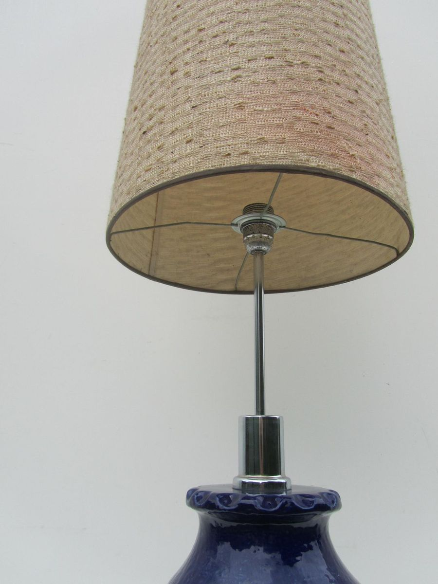 Mid century vintage german ceramic floor lamp from dumler for German floor lamps