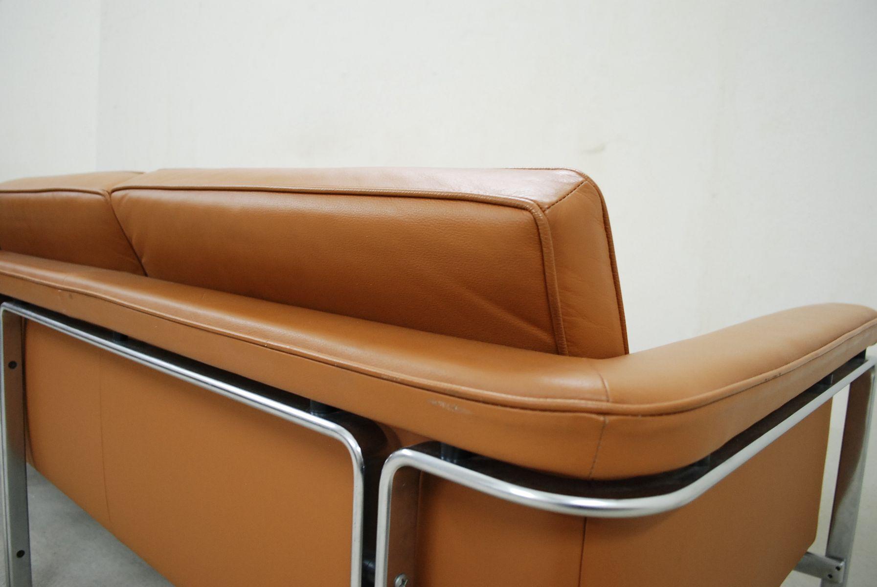 german 6913 cognac leather sofa by horst br ning for kill. Black Bedroom Furniture Sets. Home Design Ideas
