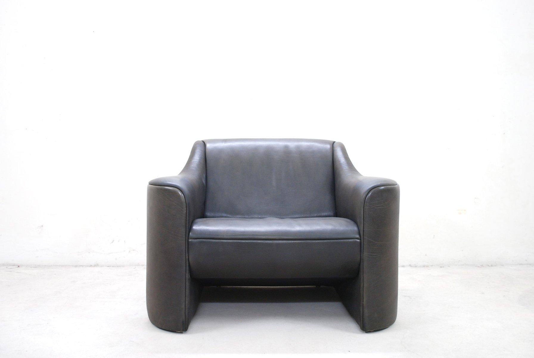 Italian Esquire Leather Armchair Club Chair by Luigi Massoni