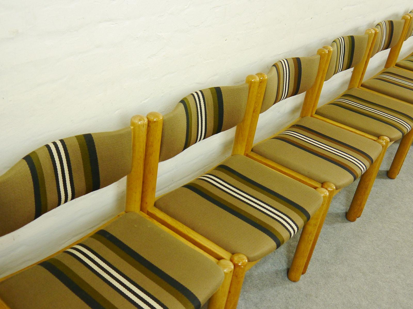 skandinavische vintage esszimmerst hle 8er set bei pamono. Black Bedroom Furniture Sets. Home Design Ideas