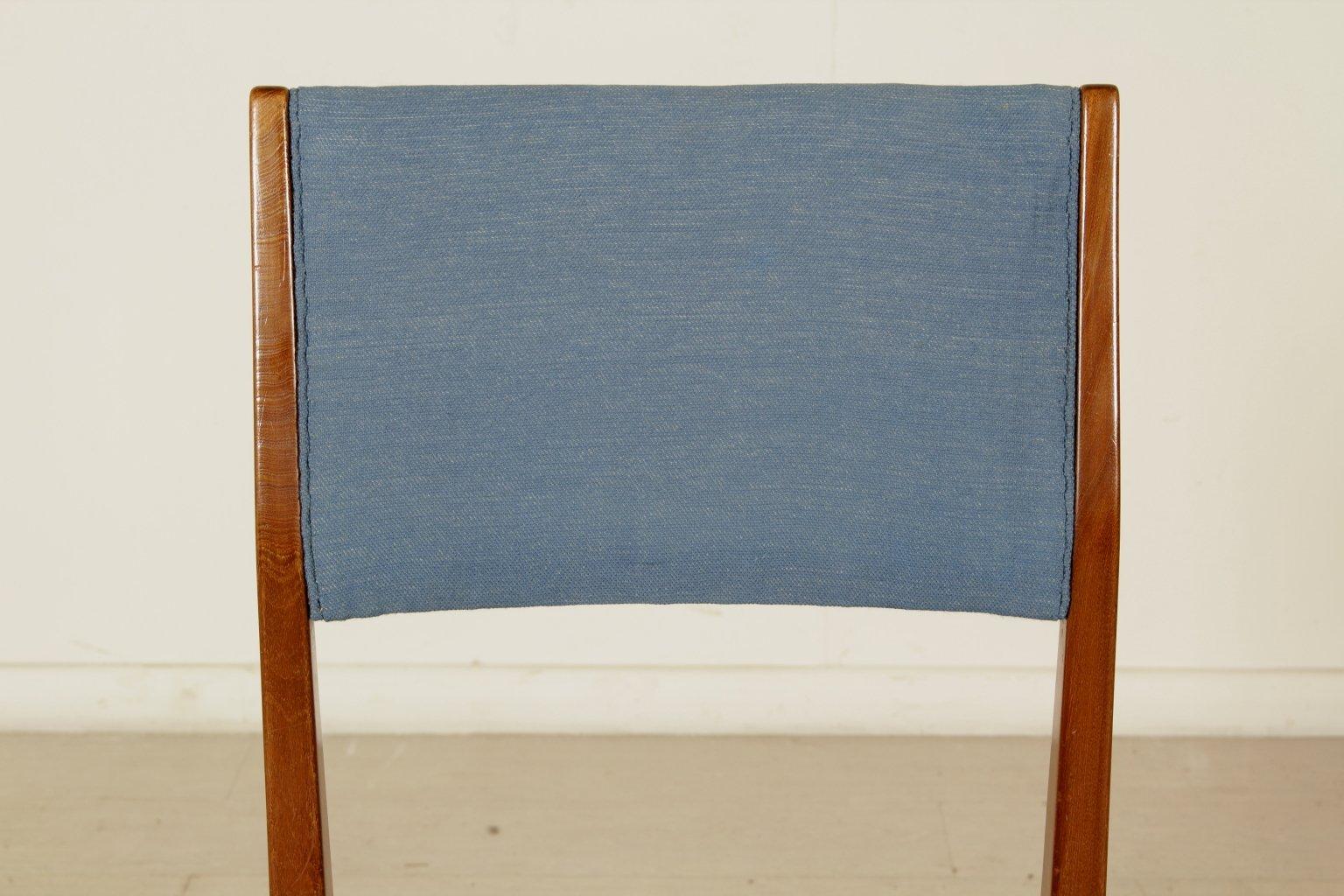 chaise en acajou par gio ponti pour cassina italie 1950s. Black Bedroom Furniture Sets. Home Design Ideas