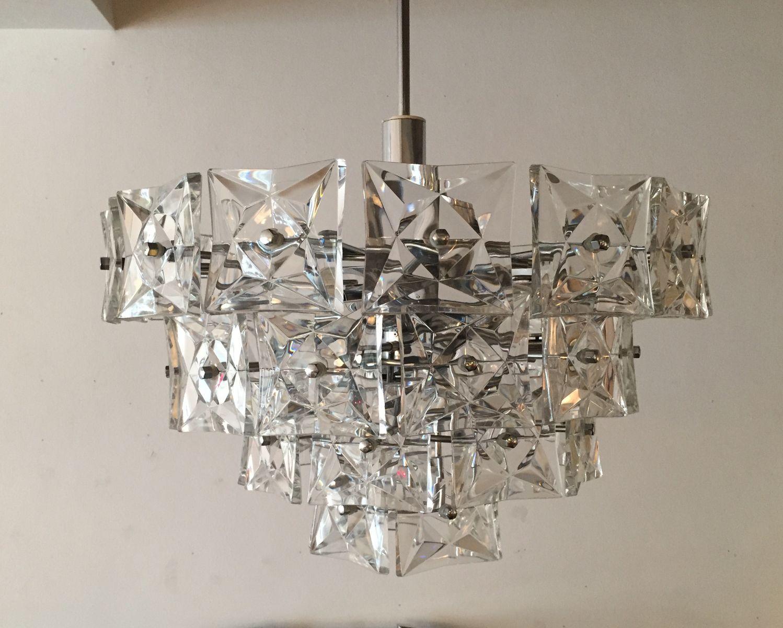 vintage kristall kronleuchter von kinkeldey bei pamono kaufen. Black Bedroom Furniture Sets. Home Design Ideas