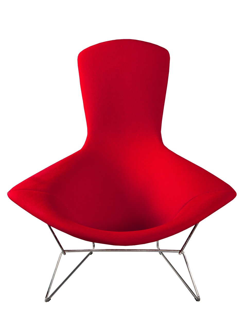 italian bird chair by harry bertoia for knoll. Black Bedroom Furniture Sets. Home Design Ideas