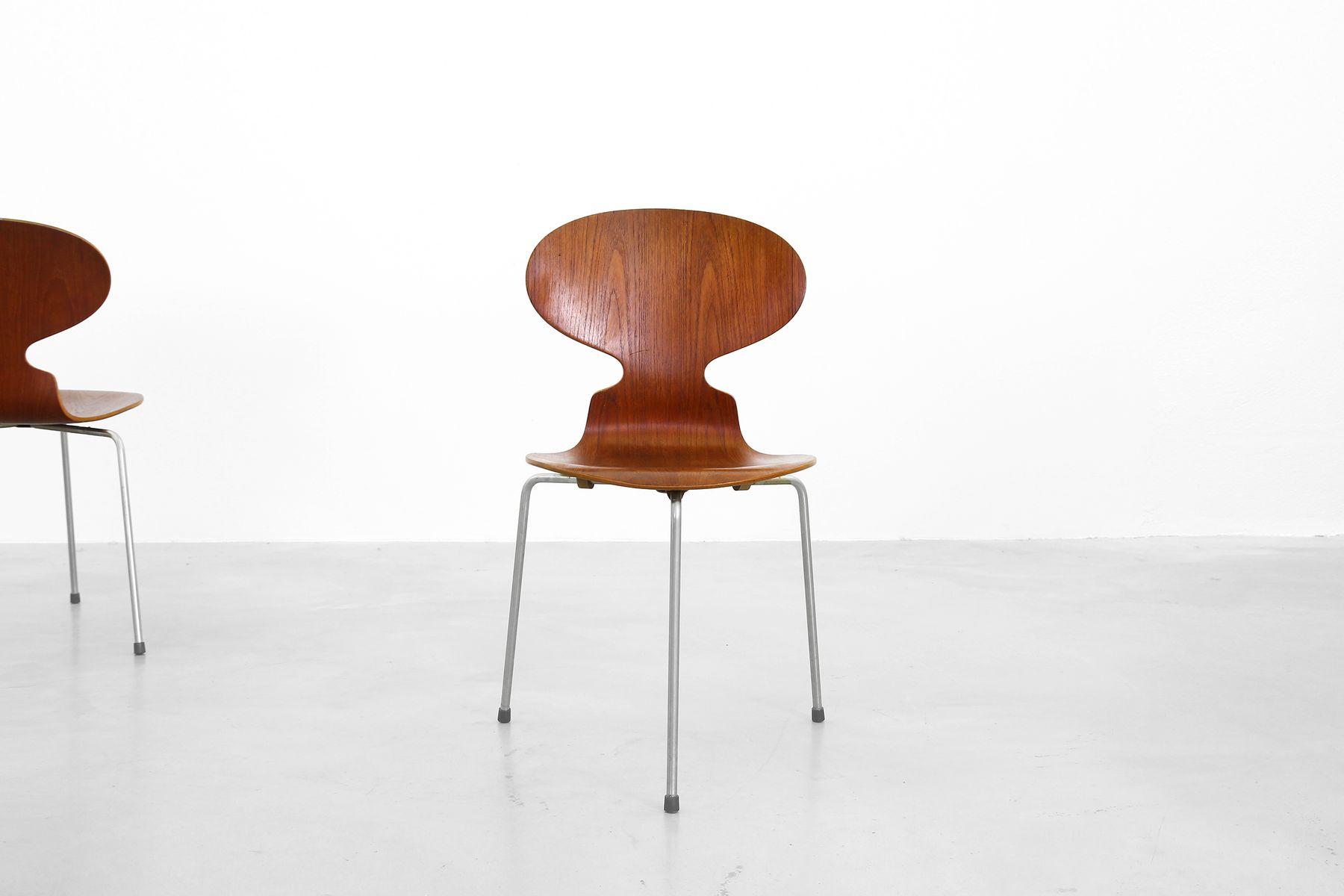 d nische mid century ant st hle von arne jacobsen f r. Black Bedroom Furniture Sets. Home Design Ideas