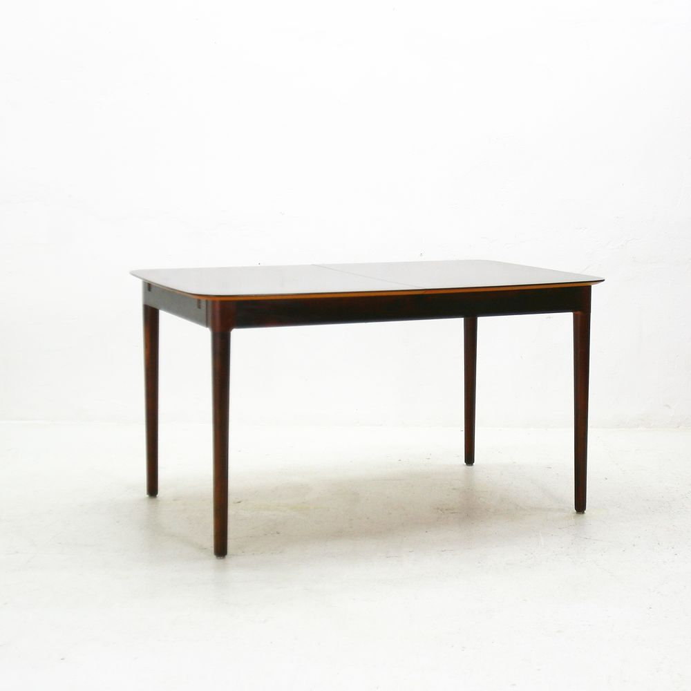 Extendable German Rosewood Dining Table 1960s For Sale At