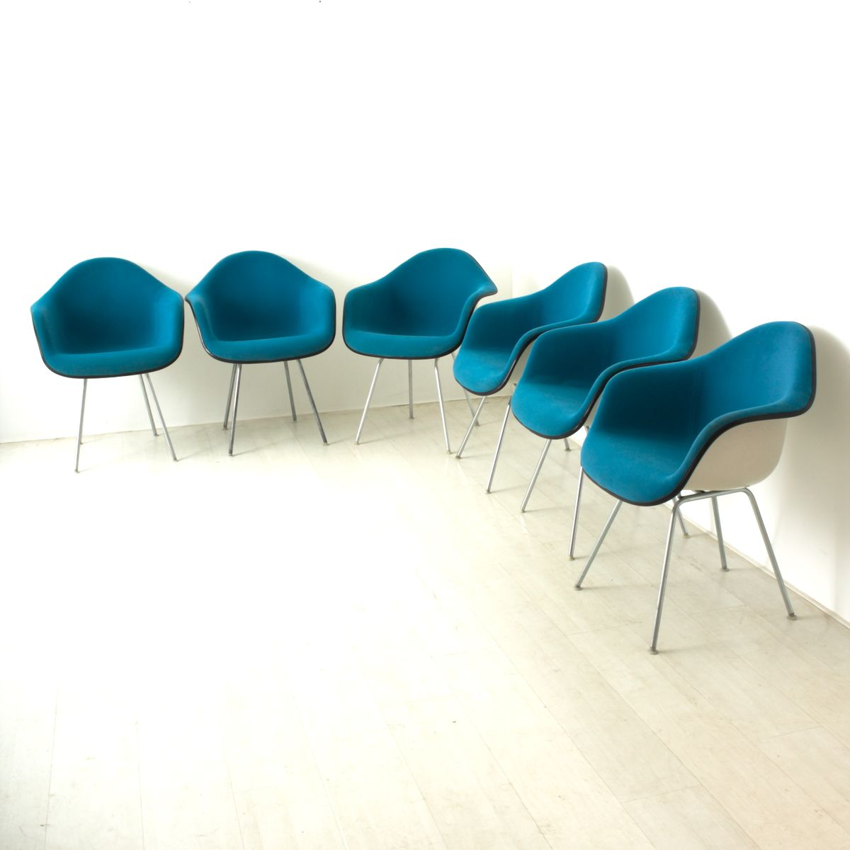 Teal Armchair By Charles Eames For Vitra 1960 For Sale At