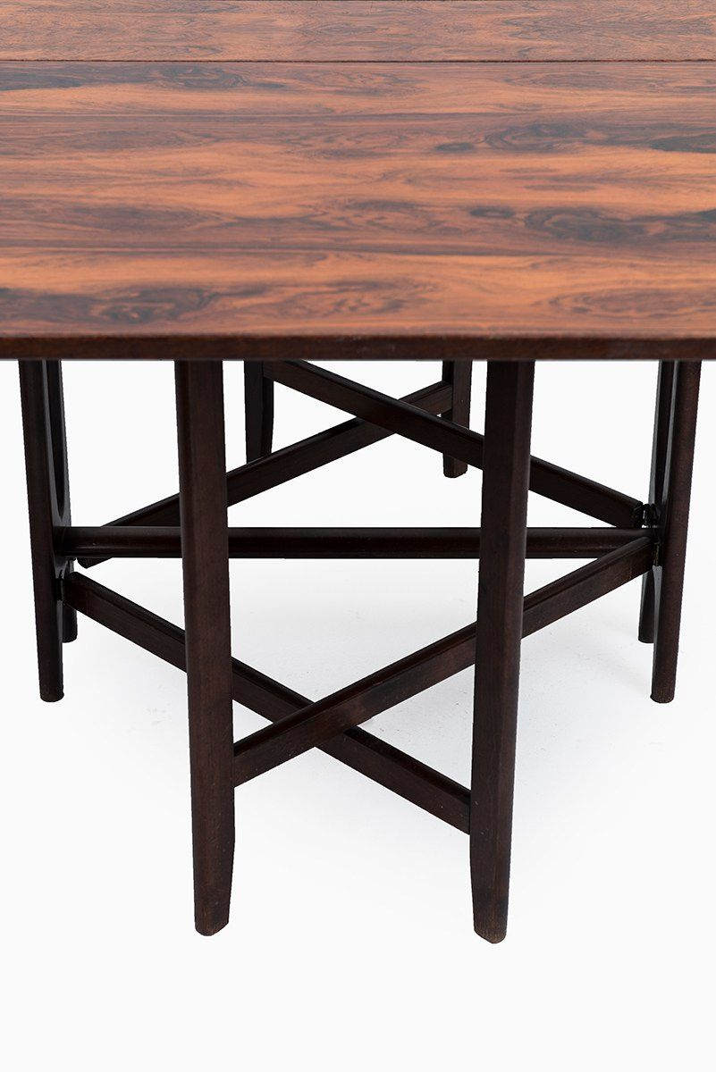 Model 4 Rosewood Dining Table By Bendt Winge For Kleppes For Sale At Pamono