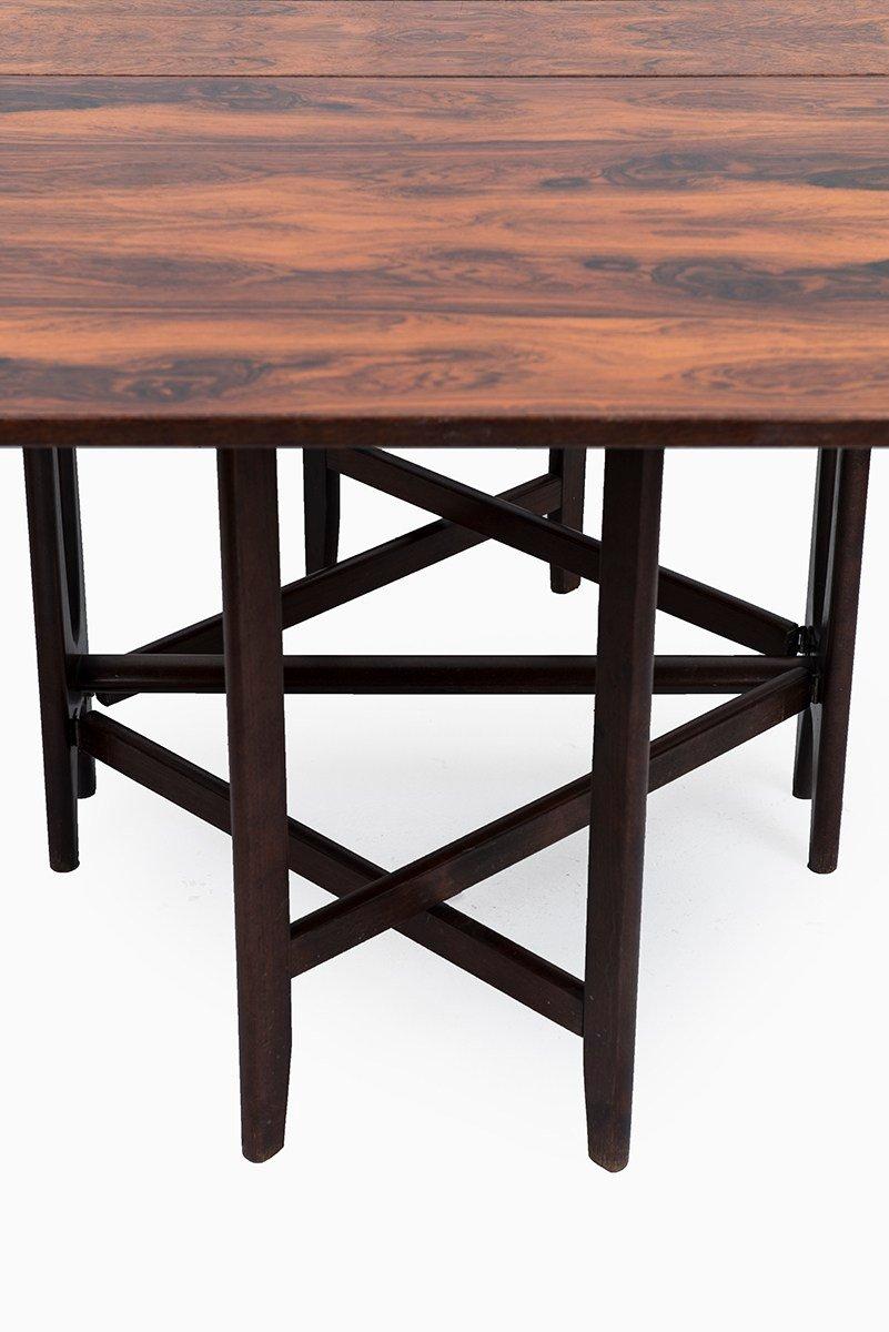Model 4 Rosewood Dining Table by Bendt Winge for Kleppes for sale ...