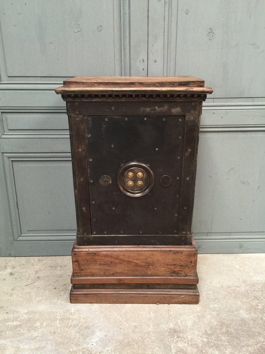 franz sischer tresor aus holz stahl 1850er bei pamono kaufen. Black Bedroom Furniture Sets. Home Design Ideas