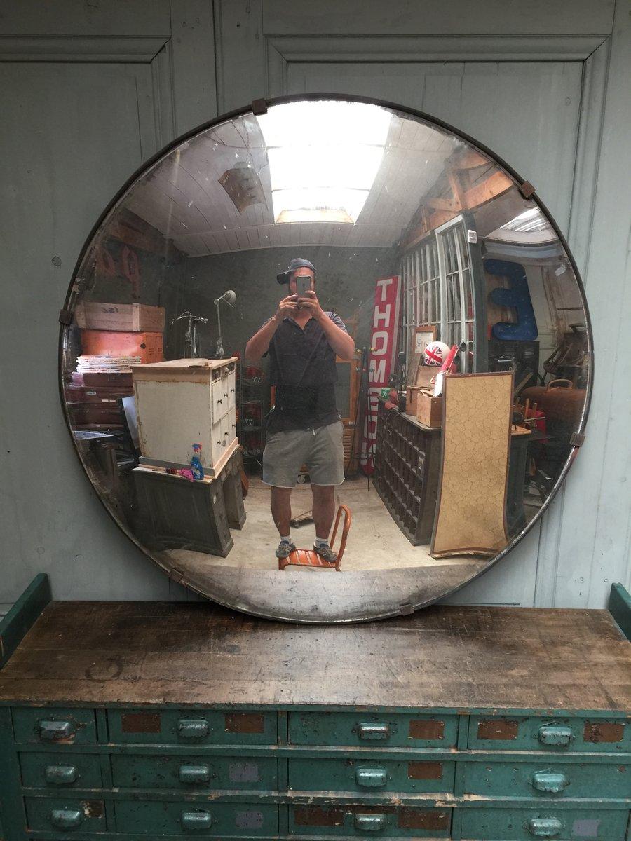 grand miroir convexe vintage r publique tch que en vente. Black Bedroom Furniture Sets. Home Design Ideas