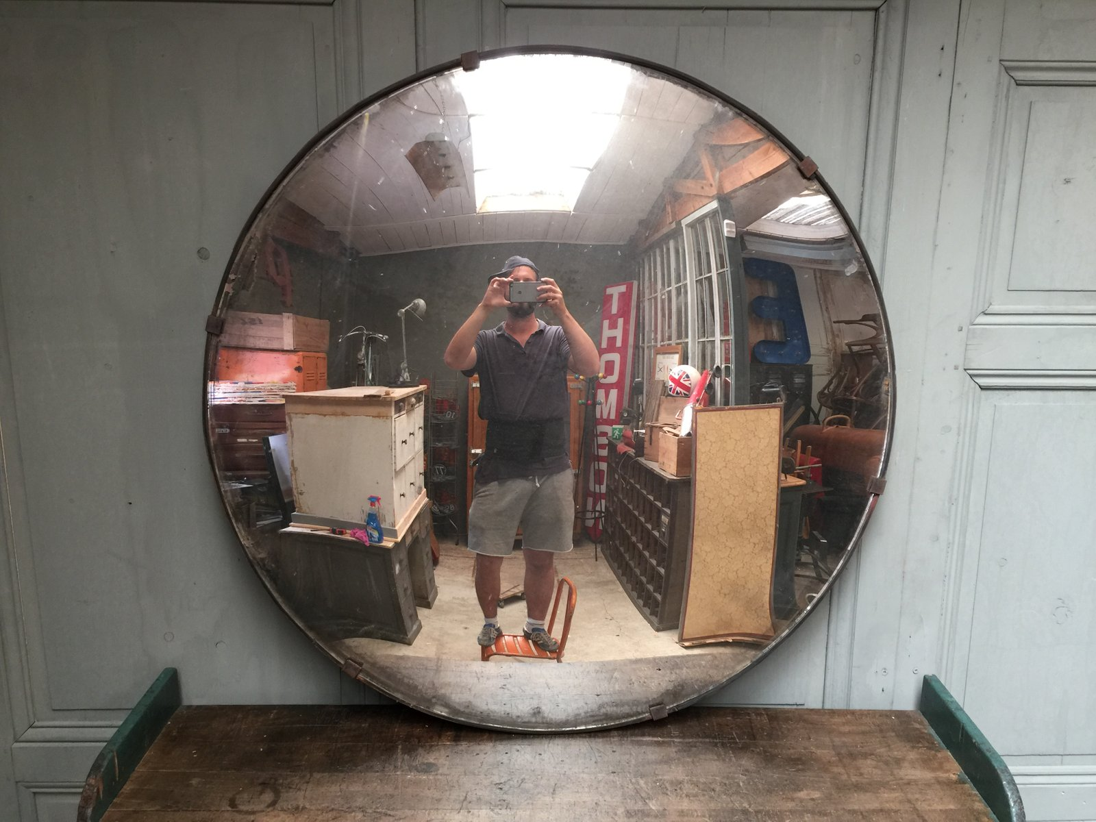 Large vintage czech convex mirror for sale at pamono for Miroir convexe achat