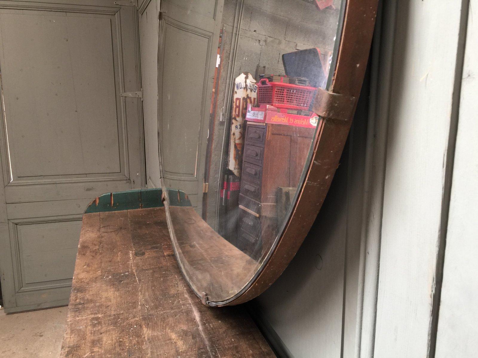 Grand miroir convexe vintage r publique tch que en vente for Miroir convexe