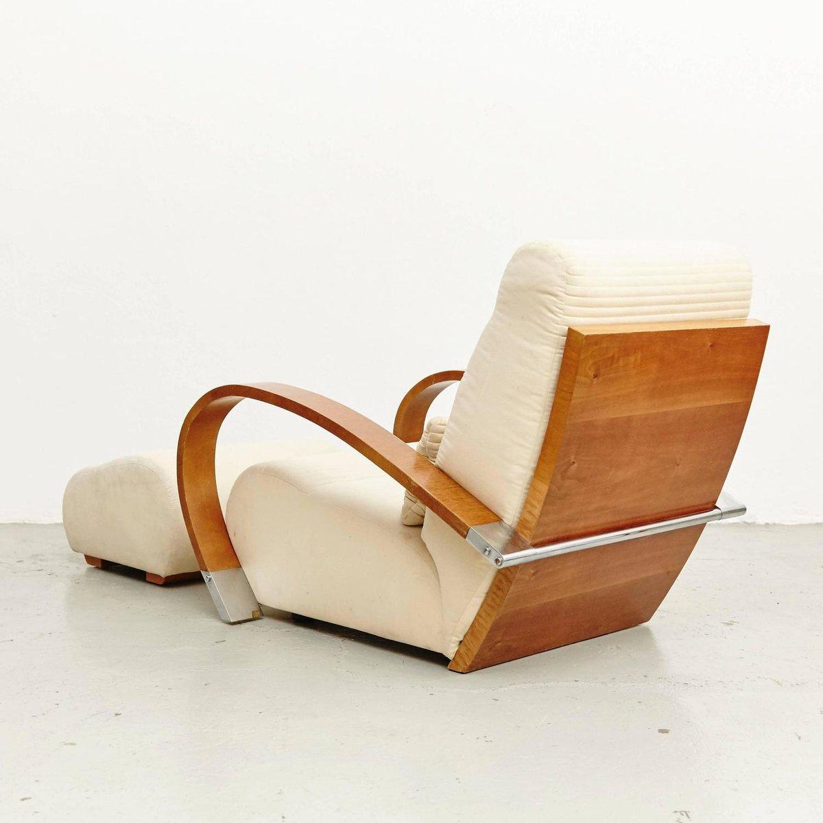 Spanish Casablanca Armchair And Footrest From Jaime