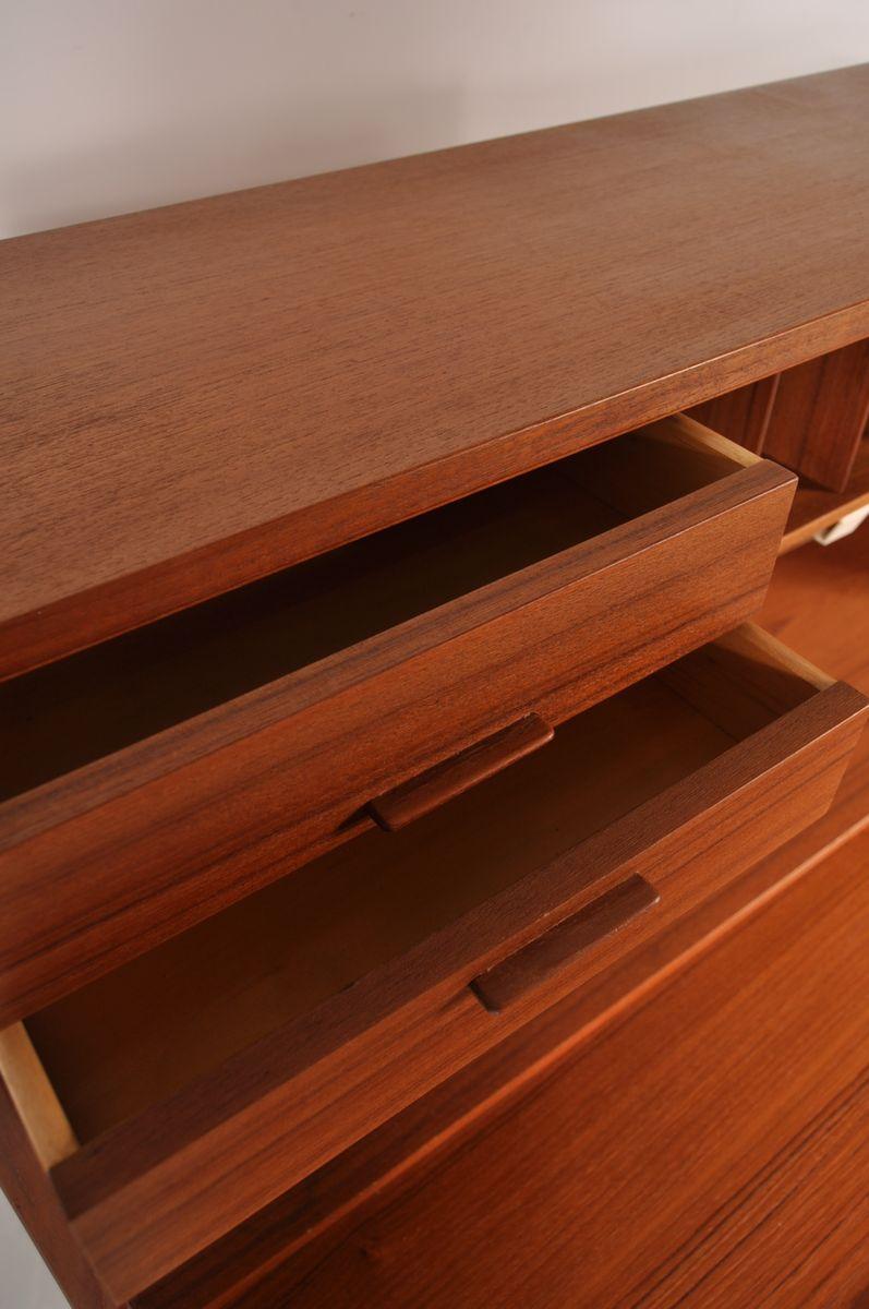 d nischer teak sekret r mit integrierter lampe 1960er bei. Black Bedroom Furniture Sets. Home Design Ideas