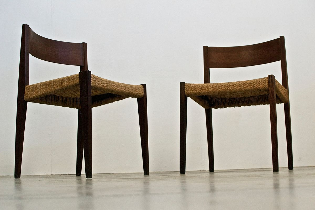 Italian dining chairs from isa set of 2 for sale at pamono for Italian dining furniture