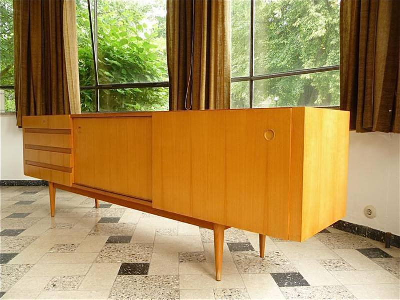 Cherrywood sideboard with sliding doors from wilhelm renz for Sliding glass doors germany