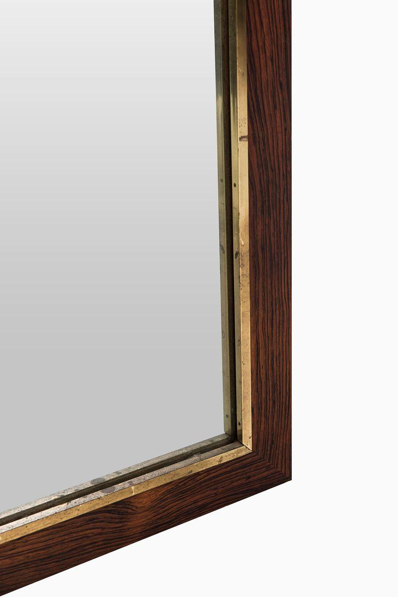 large swedish rosewood mirror from fr seke ab