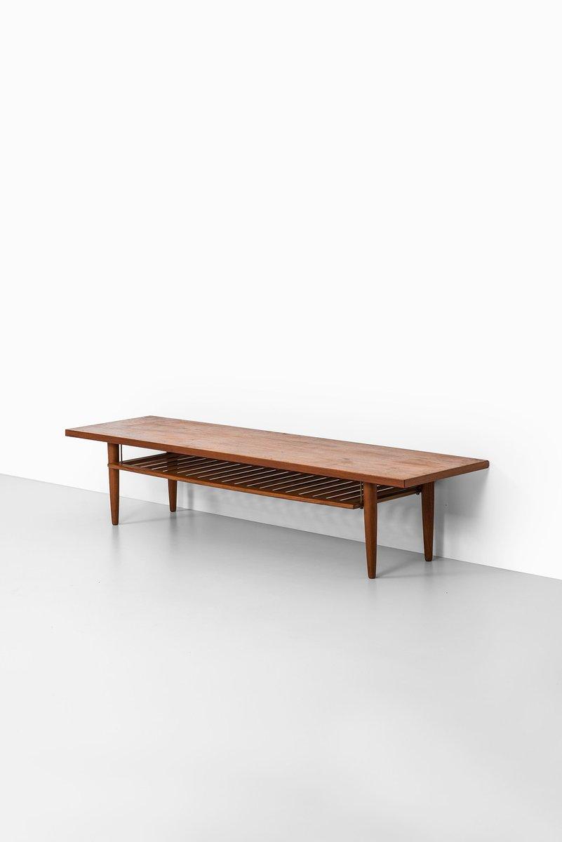 Swedish teak coffee table with magazine rack for sale at pamono geotapseo Choice Image