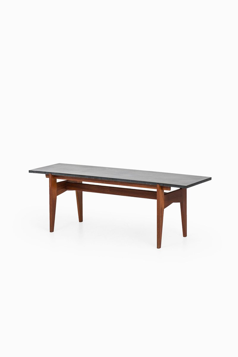 Teak and black granite coffee table by hans agne jakobsson for sale at pamono Granite coffee table