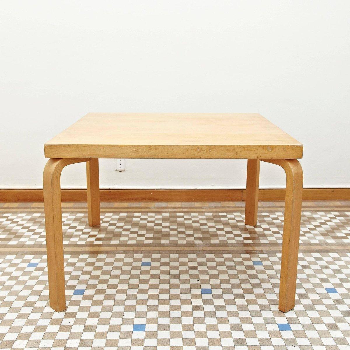 finnischer esstisch von alvar aalto f r artek 1960er bei pamono kaufen. Black Bedroom Furniture Sets. Home Design Ideas