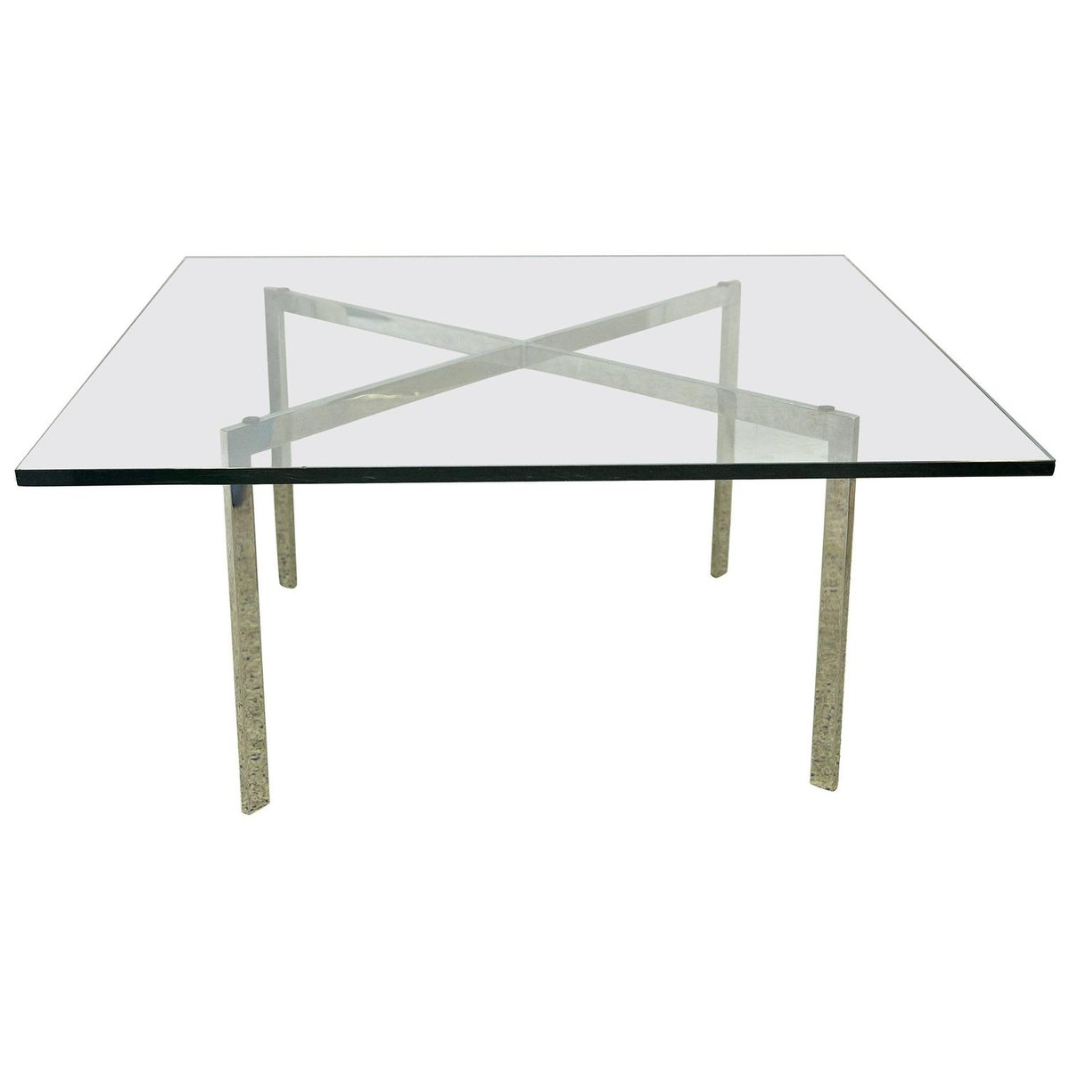 barcelona table by mies van der rohe for knoll 1960s for sale at pamono. Black Bedroom Furniture Sets. Home Design Ideas