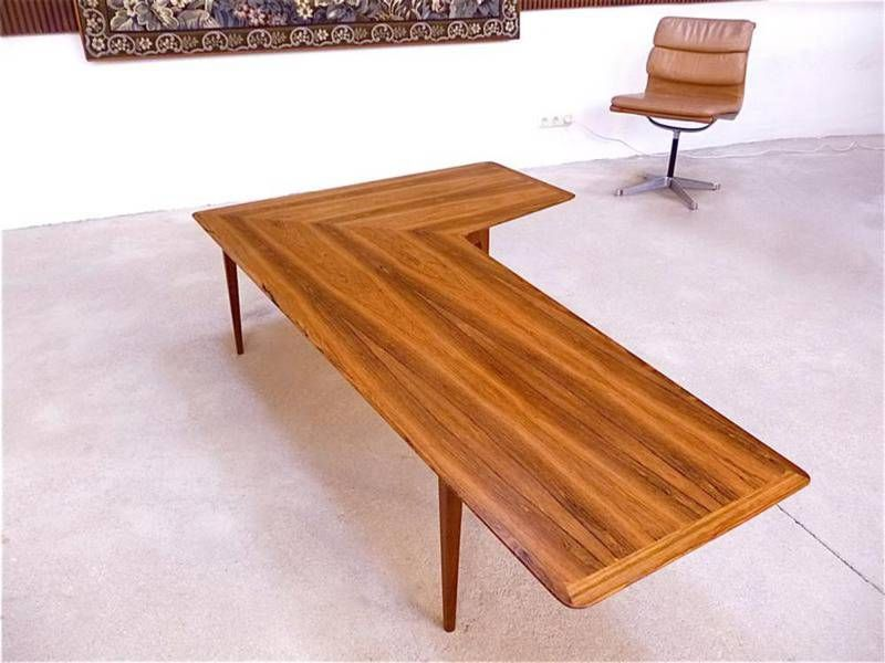 Danish Rosewood Corner Coffee Table 1960s For Sale At Pamono