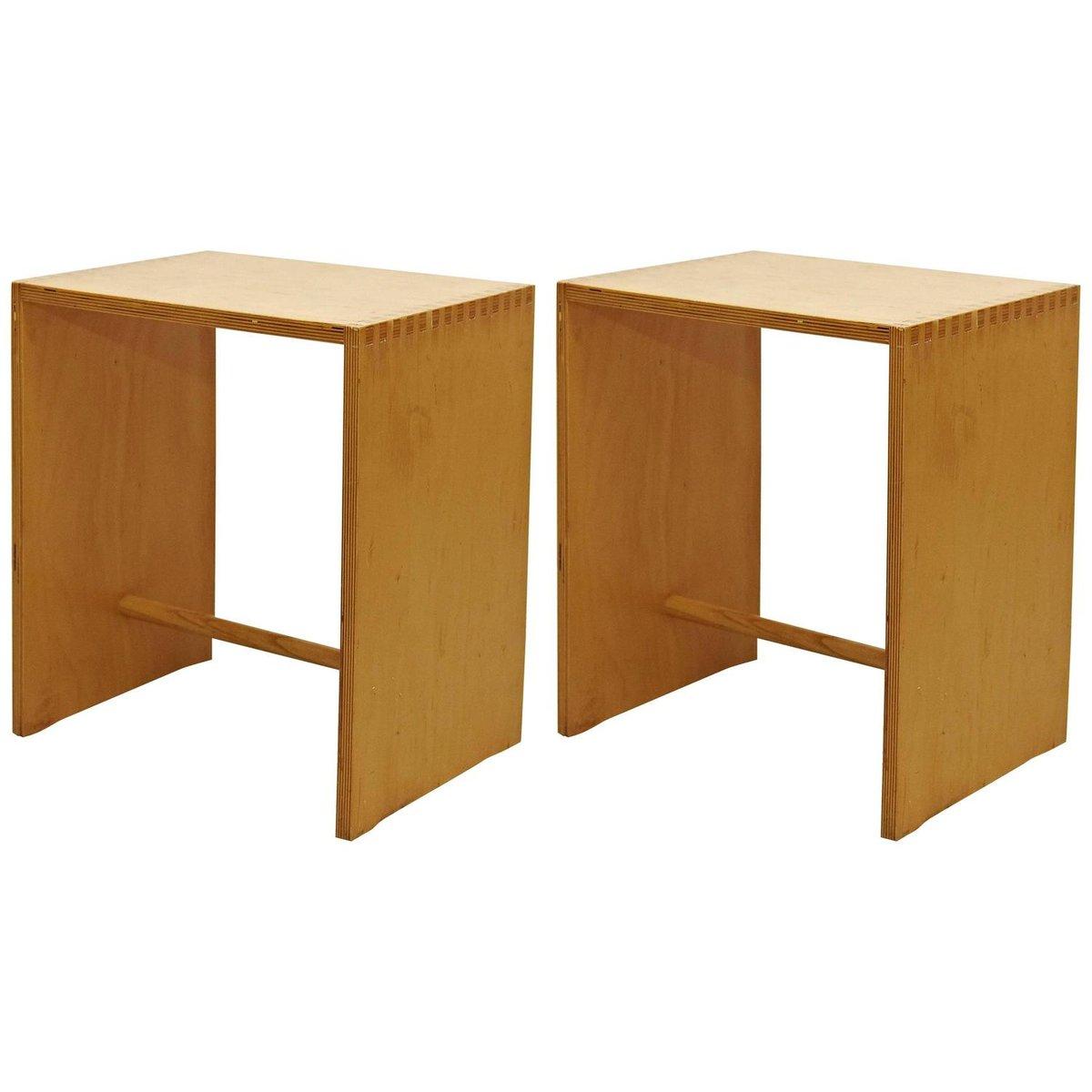 hocker aus holz von max bill f r zanotta 1950er bei pamono kaufen. Black Bedroom Furniture Sets. Home Design Ideas