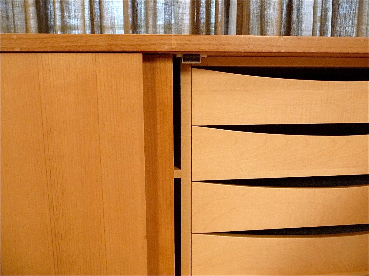 german large sideboard from wk m bel 1960s for sale at pamono. Black Bedroom Furniture Sets. Home Design Ideas