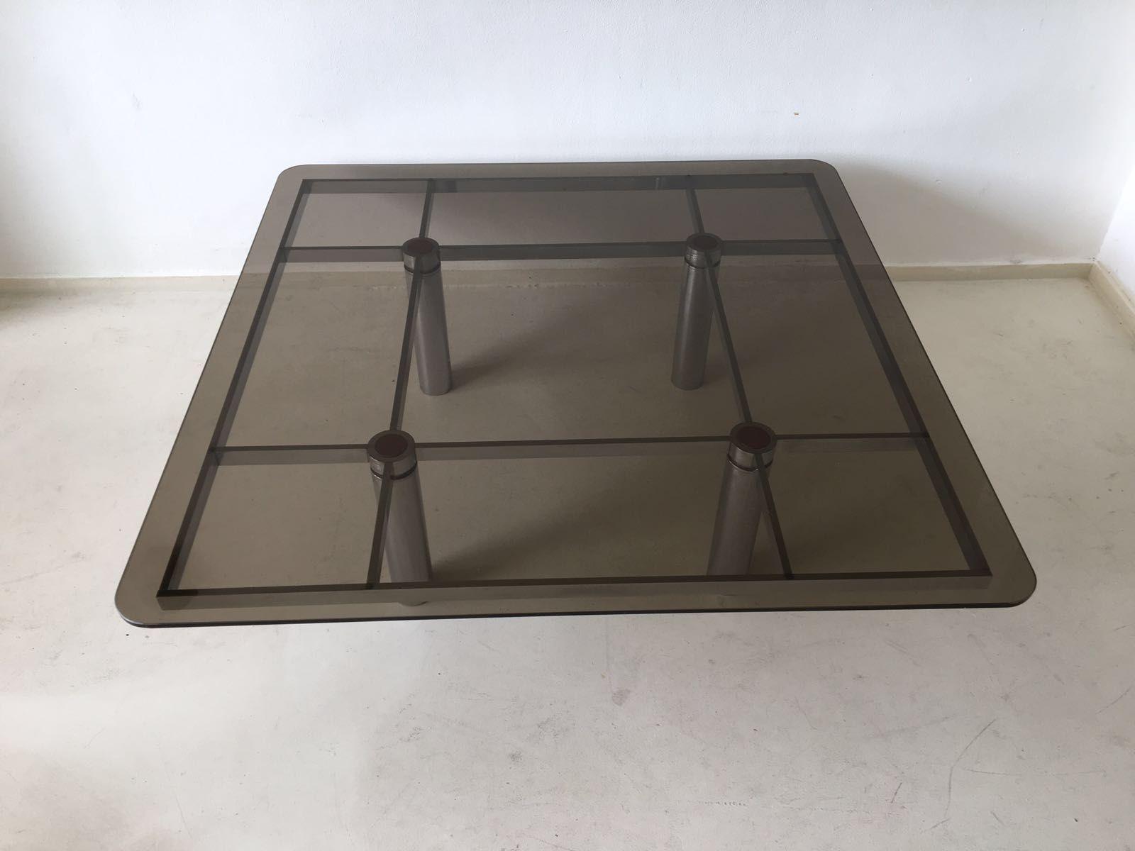 Quadratischer italienischer glas couchtisch von tobia scarpa für ...