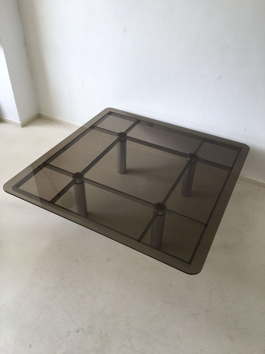 italian square glass coffee table by tobia scarpa for gavina  - italian square glass coffee table by tobia scarpa for gavina s