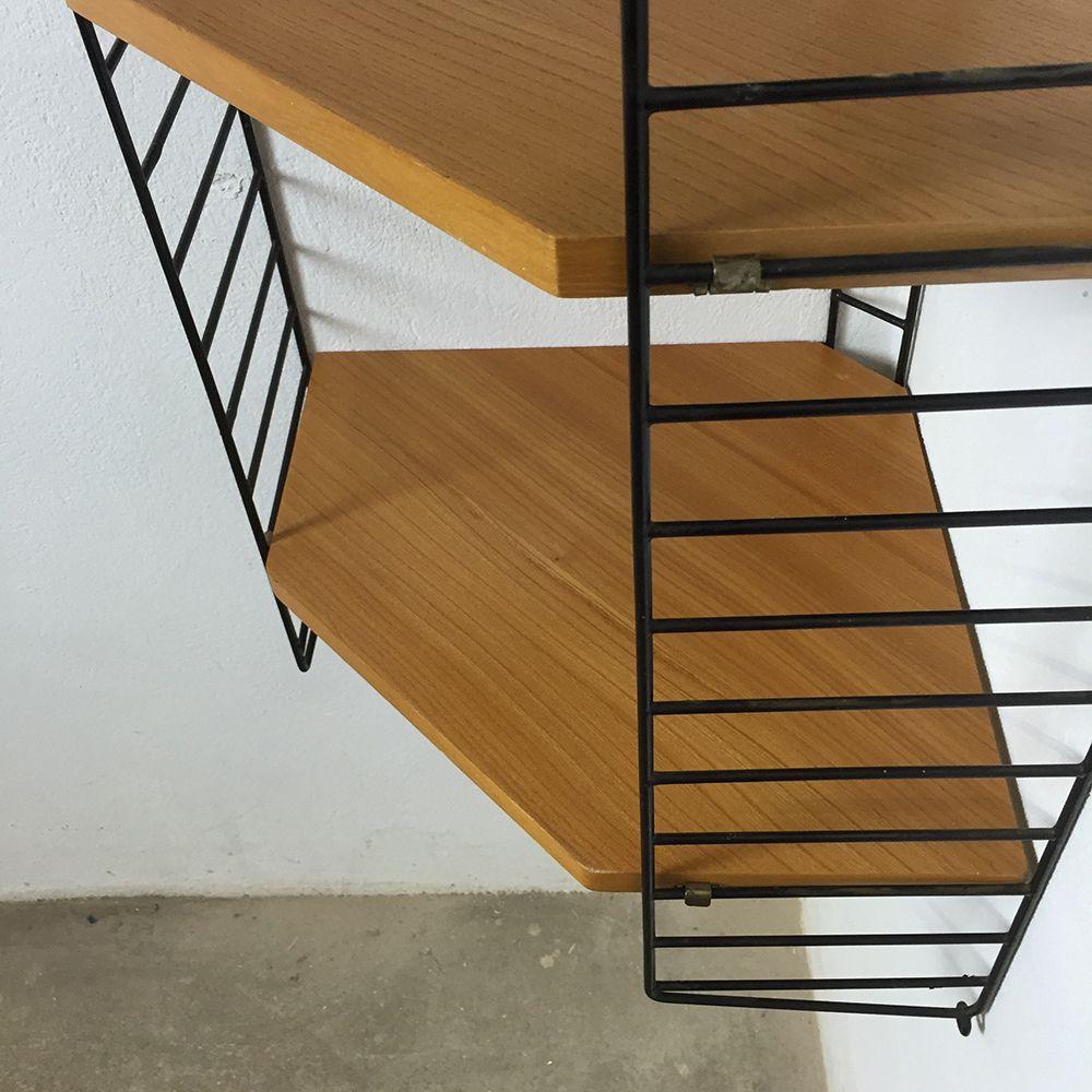 schwedisches eckregal von nisse strinning f r string 1960er bei pamono kaufen. Black Bedroom Furniture Sets. Home Design Ideas