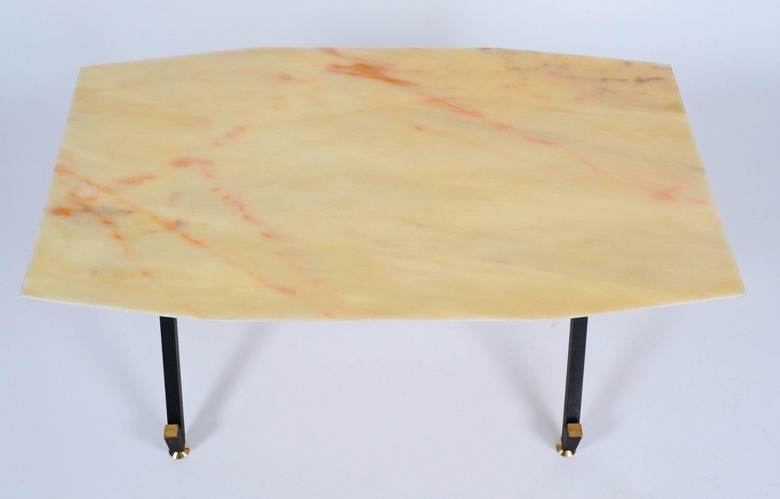 italienischer couchtisch mit marmor tischplatte 1960er bei pamono kaufen. Black Bedroom Furniture Sets. Home Design Ideas