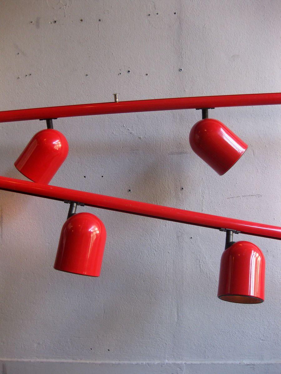 niederl ndische verstellbare rote vintage deckenlampe. Black Bedroom Furniture Sets. Home Design Ideas