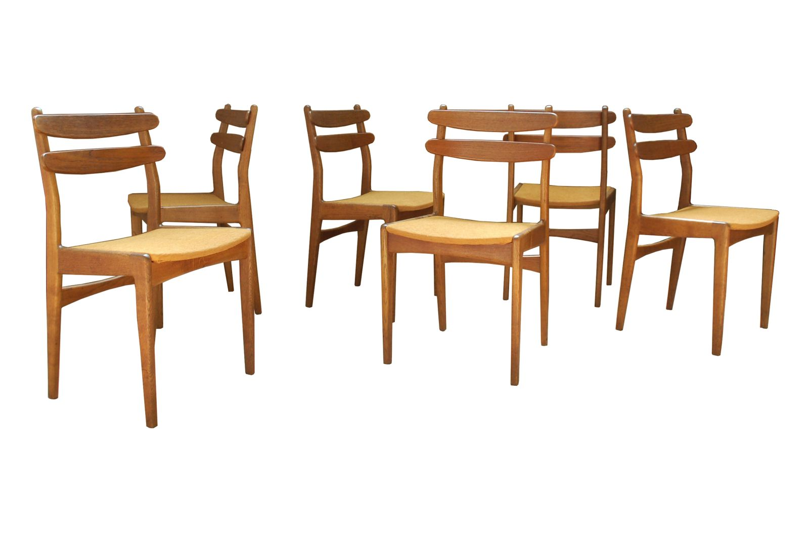 Danish teak dining chairs set of 6 for sale at pamono for Set of 6 dining chairs