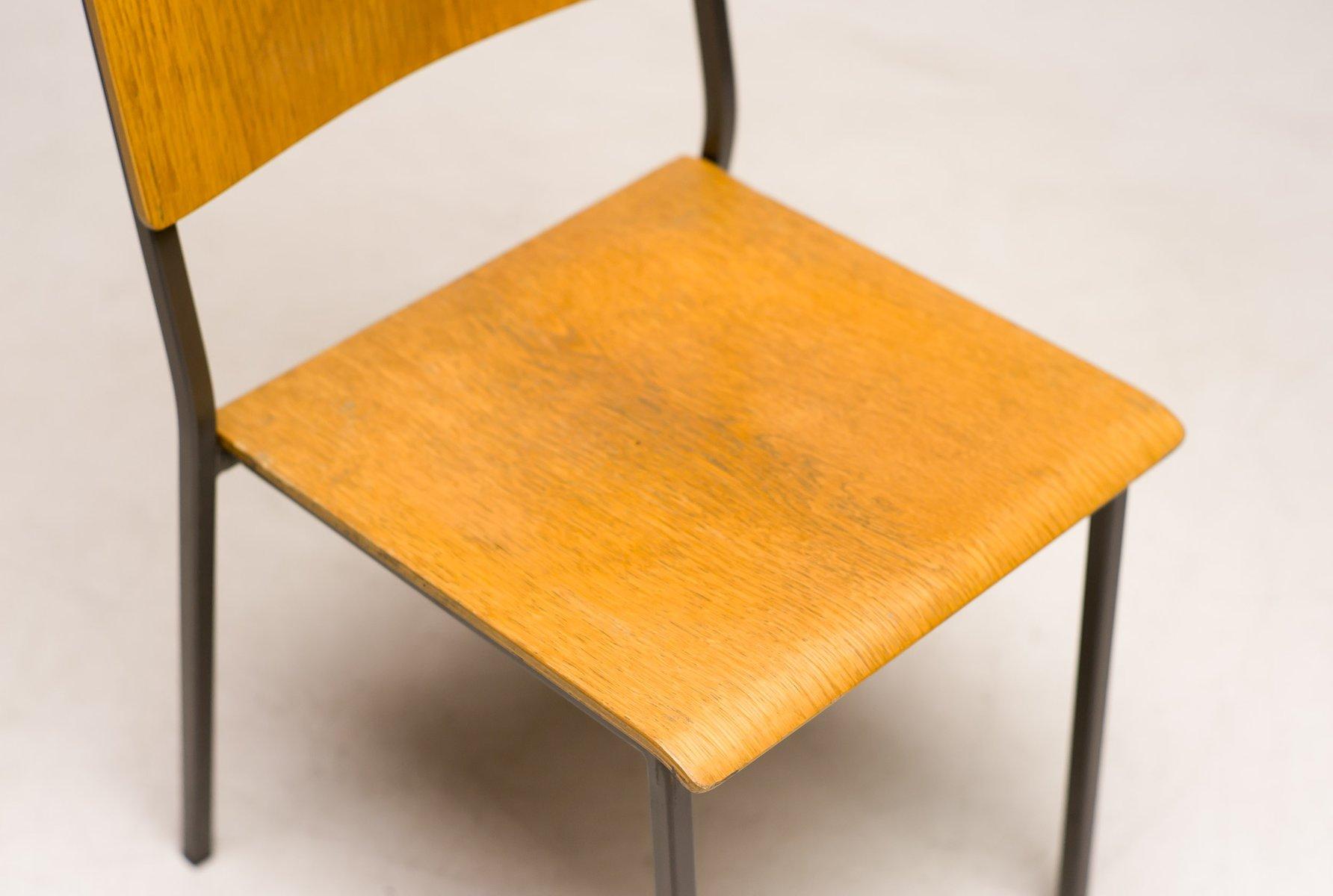 Danish Minimalist Oak Stacking Chair for sale at Pamono