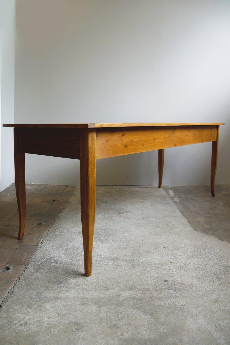Grande table de salle manger antique biedermeier en for Table de salle a manger grande taille