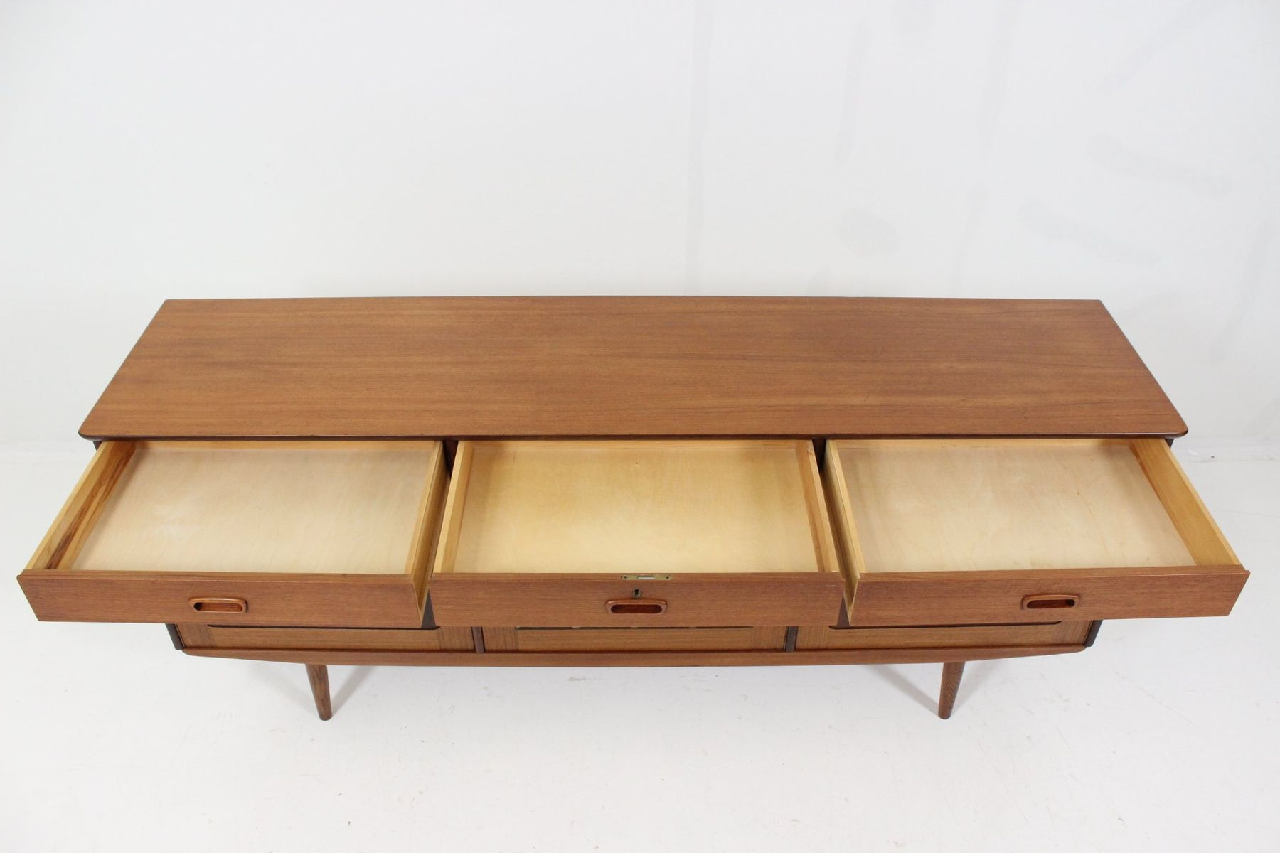 Stained Glass Coffee Table Mid Century Danish Teak Stained Glass Bar Sideboard For Sale At
