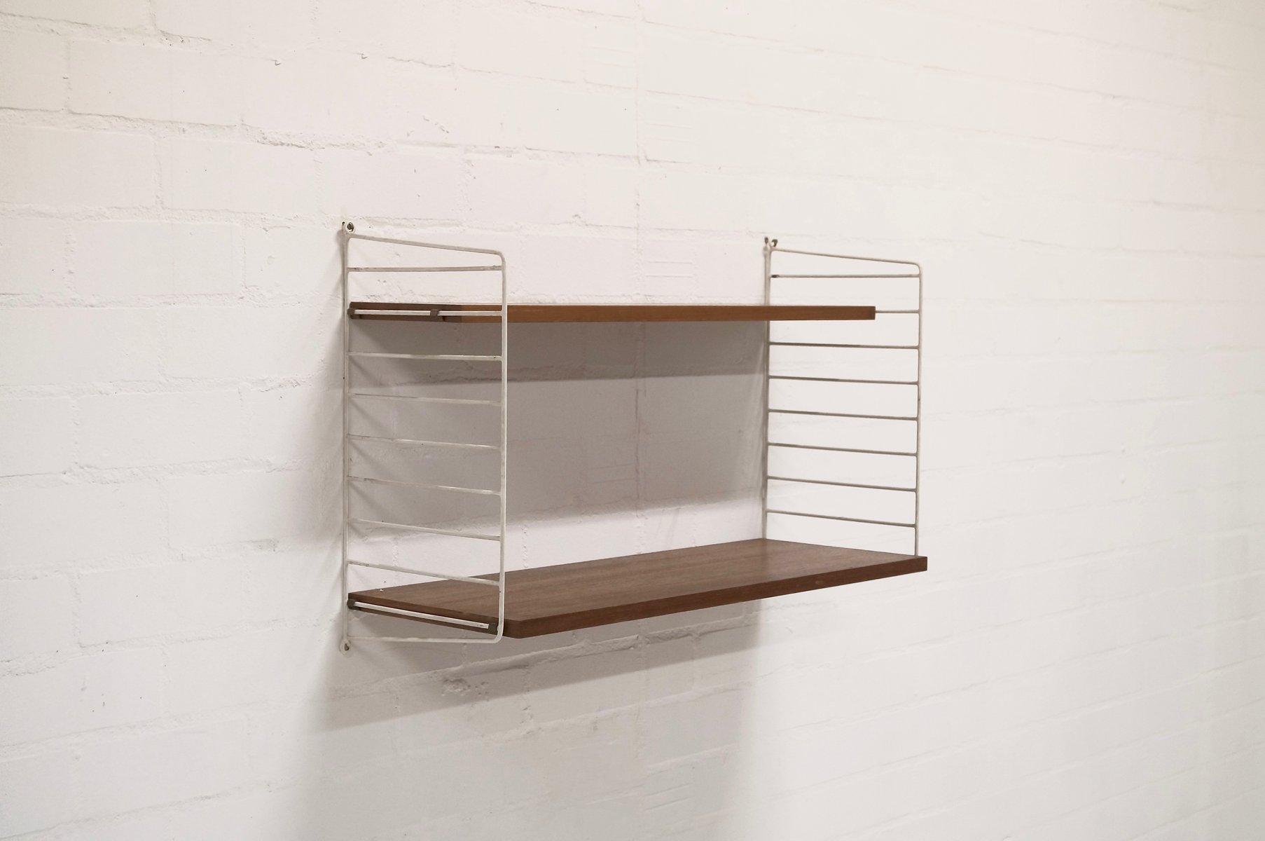 schwedisches mid century teak regal von nisse strinning f r ab string 1958 bei pamono kaufen. Black Bedroom Furniture Sets. Home Design Ideas