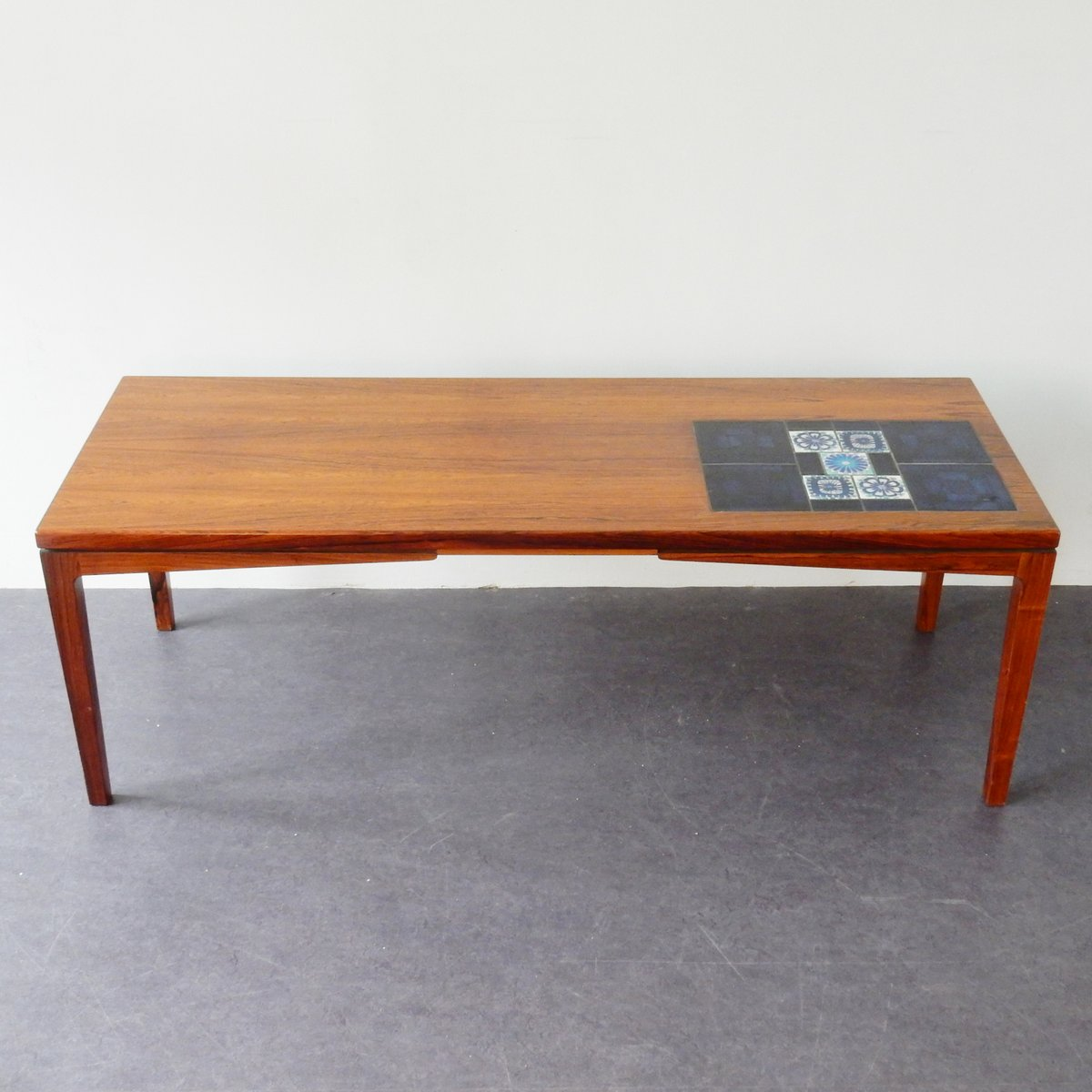 Mid-Century Coffee Table With Tiles For Sale At Pamono